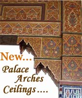 Middle eastern architecture - moorish architectural ceilings - painted middle eastern ceiling