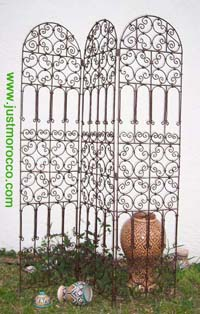 Iron screen/room divider