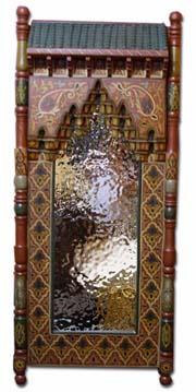 Moroccan painted mirror