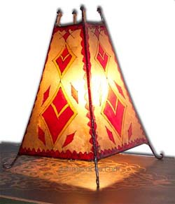 Casbah goatskin Henna Lamp :  interior design lamp henna home