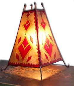 Casbah goatskin Henna Lamp