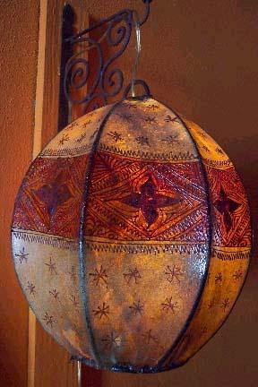 justmorocco. Globe henna lamp