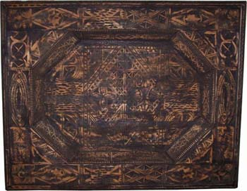 Carved cedar ceiling