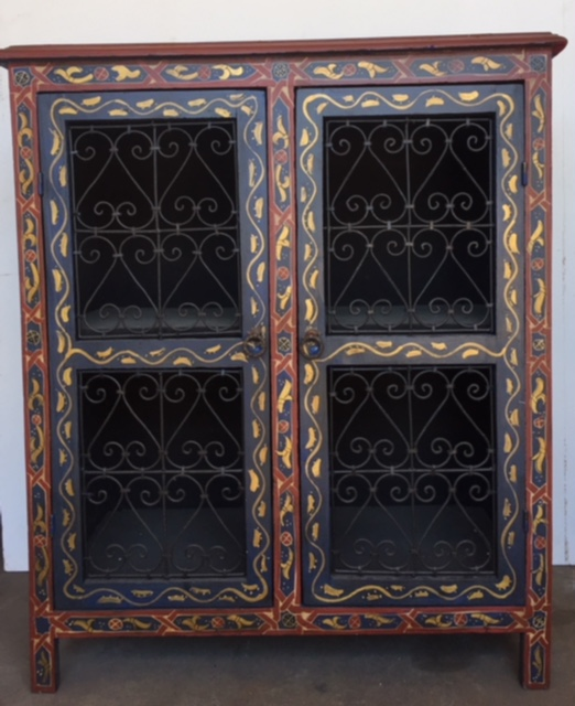 Moroccan Painted Storage Cabinet