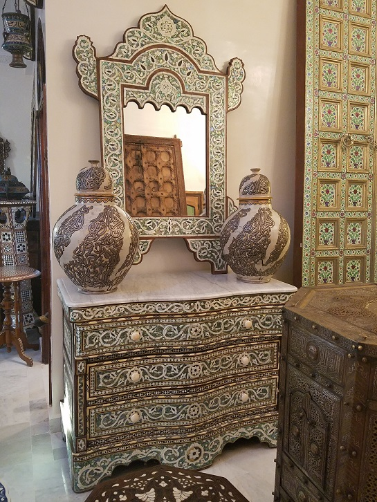 Syrian Mother Of Pearl Furniture At Justmorocco
