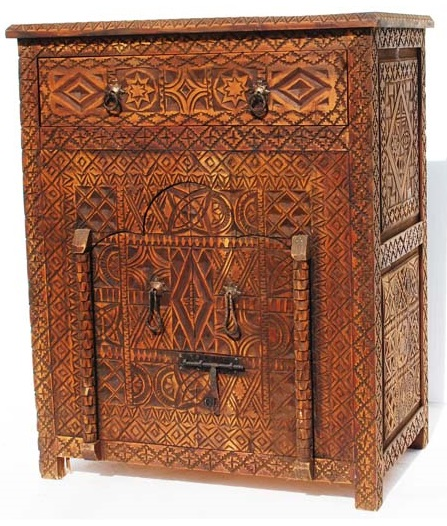African Furnishings African Living Cabinet Home Decor Carved Buffet