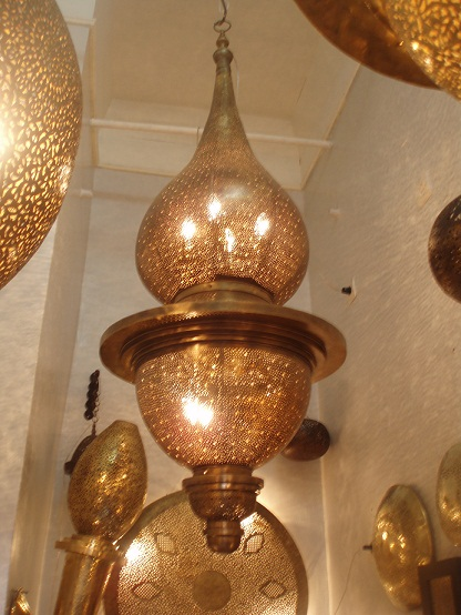 Memoza brass chandelier