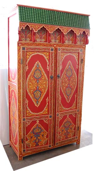 Farasha red armoire