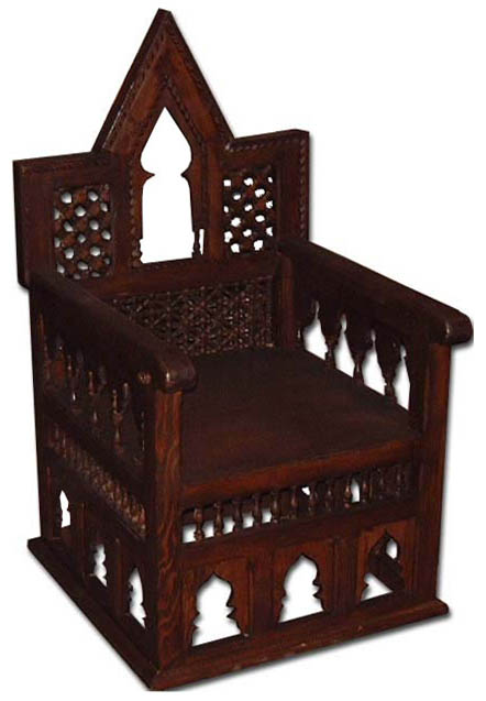 moorish mooresque chair