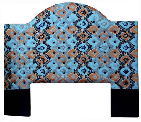 Moroccan upholstered headboard