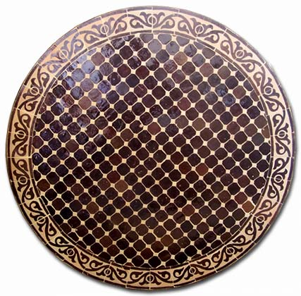 Brown Mosaic Table Top