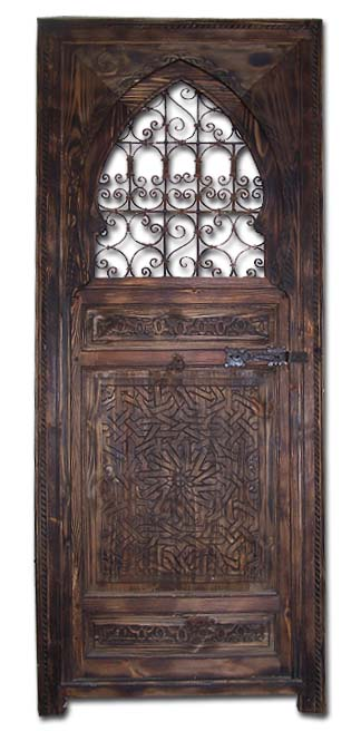 sc 1 st  Just Morocco & Filigree wrought iron cedar door - justmorocco doors
