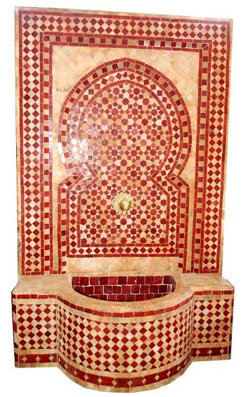 Moorish tile fountain