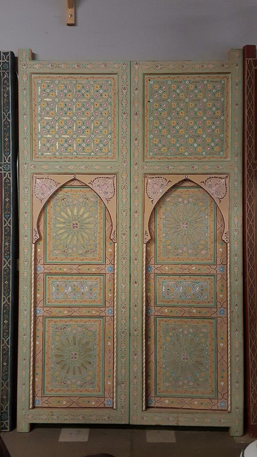 Moorish large painted door
