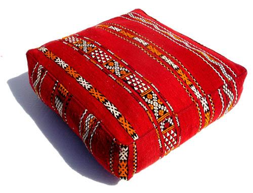 Berber Moroccan Kilim Pouf Classy Turkish Kilim Pouf