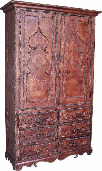 Leather armoire