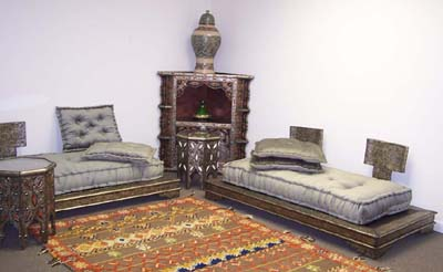 Traditional Living Room  on Contemporary Furnishing   Metal Moroccan Living Room Set