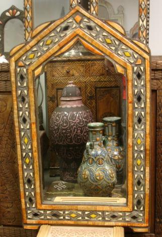 Ethnic Home Decor Mirror Touareg Camel Bone Mirror