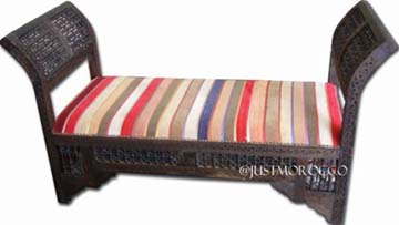 justmorocco. Wandal moorish bench :  outdoors chair bench stripes