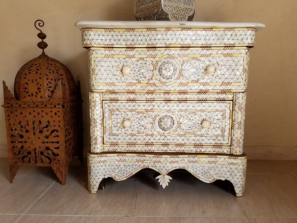 Syrian mother of pearl nightstand