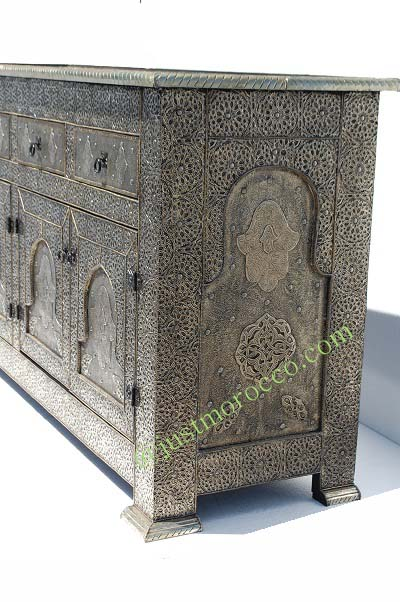 Marrakesh silver cabinet