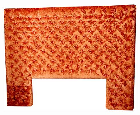 Moroccan orange tafta headbord bed