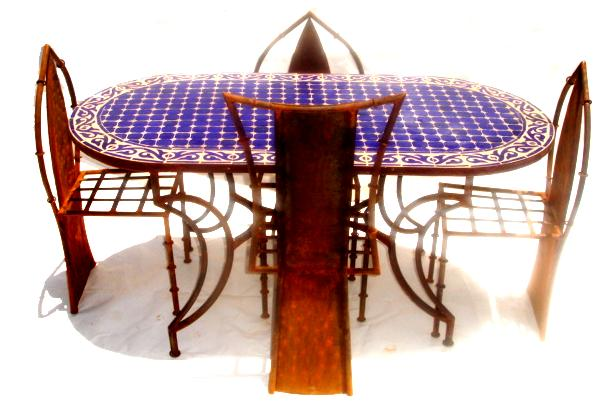 Oval large mosaic table