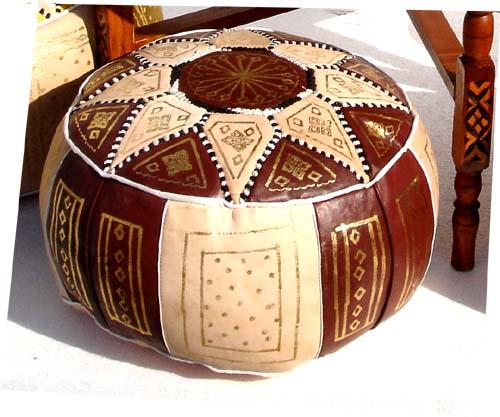 Brown Moroccan Ottoman