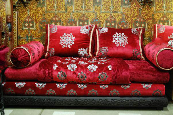 Charming Mozona Red Sofa