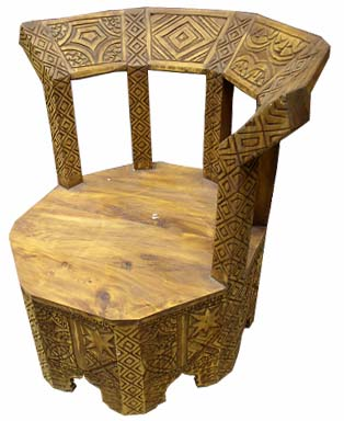 Touareg carved chair