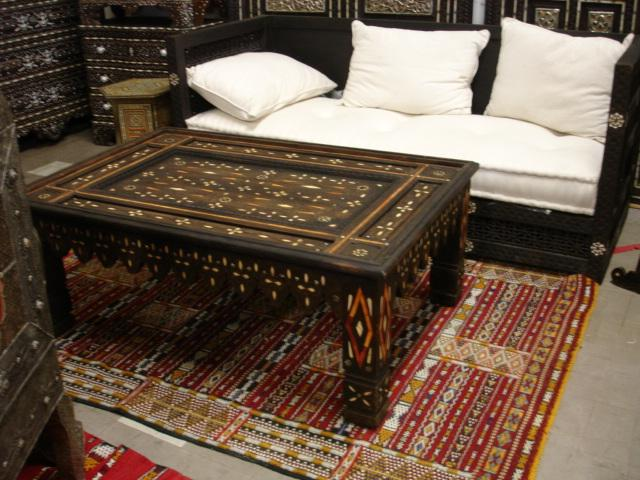 Tribal ethnic decor table moroccan dinning carved table