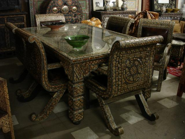 unique dining room set unique camel bone furniture rh justmorocco com