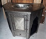 Andalusian silver cabinet vanity