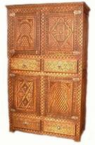 Kenya carved armoire