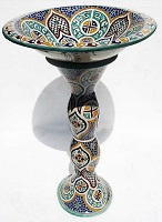 moroccan pottery sink