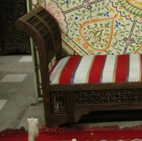 Moroccan Arabesque bench