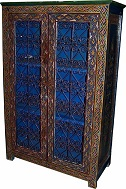 Blue filigree cabinet