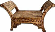 Moorish carved bench