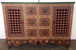 Moorish hand painted dresser
