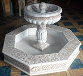 Marble floor fountain