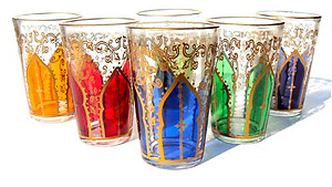 Casablanca tea glasses