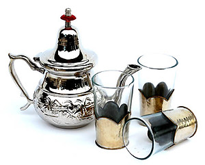 Moroccan silver tea glasses