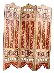 Moorish cream panel