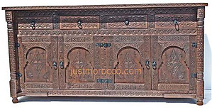 Marrakesh carved cabinet