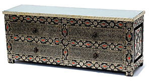 Exotic tv cabinet