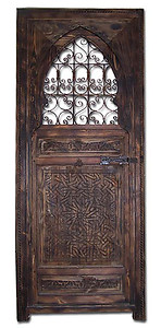 Filigree carved door