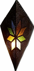 Kite stain glass sconce