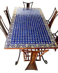 Tangier mosaic table