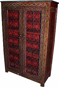 Moroccan Red cabinet