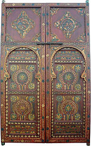 Large painted door